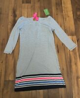 NWT Lilly Pulitzer Noelle Knit Dress Bayside Navy Stripe 3/4 Sleeve Sz Medium
