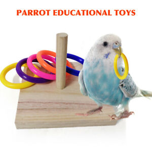 Bird Chew Toy Indoor Activity Gym Parrot Intelligence Training Tabletop Wooden