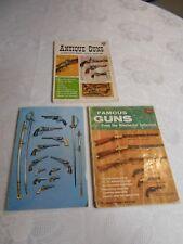 "( 3 ) Vintage "" Guns & Swords Magazines "" 1958 - 1953 - 1970's"