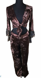 Crushed Velvet 2 pc Exotic Outfit size Med