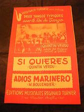 Partition Si Quieres Quintin Verdu Adios Marinero Music Sheet