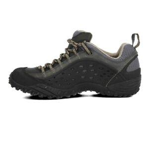 Merrell Intercept Mens Black Trail Walking Outdoors Hiking Sports Shoes Trainers
