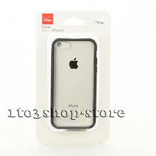 Verizon Hard Shell Slim Thin Snap Cover Case for iPhone 5C Clear/ Black Edge NEW