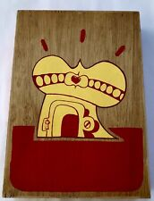 RARE SICKBOY TEMPLE ORIGINAL ON WOOD SIGNED