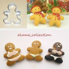 Lovely Gingerbread Man Shape Metal Cutter Xmas Decorating Fondant Cake Mould