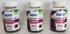 Elderberry Zinc Gummies with Vitamin C, 60 Gummies ( Pack of 3)