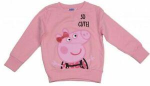 Official Peppa Pig Baby Girls Pink So Cute Sweatshirt Sweater Jumper Top 18/24