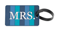 """NEW Travelon """"Mrs."""" Luggage Tag in Blue"""
