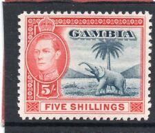 Gambia GV1 1938-46 5s. blue & vermilion sg 160 VLH.Mint
