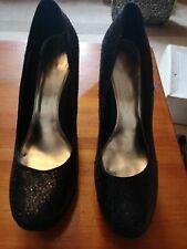 Dorothy Perkins Negro Brillo Zapatos De Plataforma Talla 6
