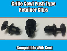 10x CLIPS SEAT IBIZA LEON GRILLE COWL BLACK PLASTIC PUSH TYPE RETAINER 54K
