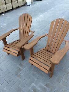 2 x Adirondack Sessel, massiv Teak, klappbar, Lehnstuhl, Deck Chair,nur Abholung