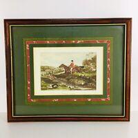 """""""Full Cry"""" William Joseph Shayer Fox Hunt Painting CR Stock Engraved Framed"""