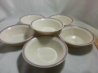 "Set of 6 Corelle Corning Ware Abundance Fruit Pattern Soup Cereal Bowls 6-3/4"""