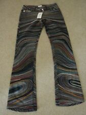 NEW Ladies PAUL SMITH Denim Jeans Embroidered Stripes Swirl Pattern 40 UK 8
