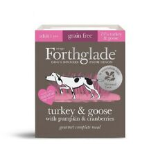 7 x Forthglade Goumet Grain Free Turkey & Goose Wet Meal Dog Food Pack of 395g