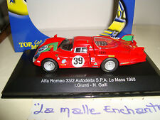 ALFA ROMEO 33/2 AUTODELTA SPA LE MANS 1968 N° 39  1/43°  TOP MODEL COLLECTION