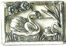 Vtg Sterling Coro Norseland Swan Pin Bird