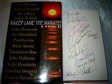 Naked Came the Manatee by Carl Hiaasen Elmore Leonard Signed x 13 1997 1/1 Hcdj