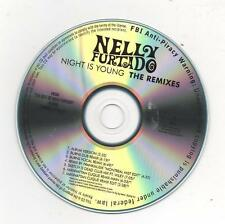 Nelly Furtado Night is Young 2010 Promo Pack CD 2 Disc Sticker and Loose Buttons