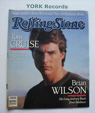 ROLLING STONE MAGAZINE - Issue 532 August 11th 1988 - Tom Cruise / Brian Wilson