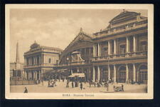 Italy ROMA Railway station early PPC