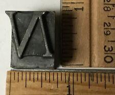 Vintage Antique Metal Printer Printing Press Block Alphabet Letter N 6569