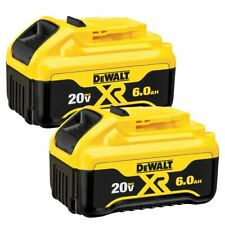 DeWALT DCB206-2 20V 6 Ah MAX XR Premium Lithium Ion Battery Pack - 2Pk