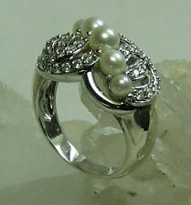 HSN-Xavier .43 Absolute Cultured FW Pearl 925 Sterling Silver Ring SZ 6