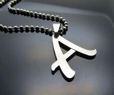 Hot letter A 1pcs Women/ Men's Silver 316L Stainless Steel  Pendant Necklace