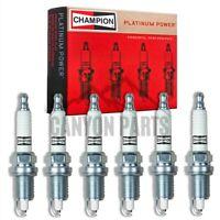 6 pc Champion Iridium Spark Plugs for 1987-2006 Jeep Wrangler 4.0L 4.2L L6 ki