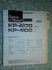 Pioneer kp-a170 4100 service manual original repair book stereo car radio tape