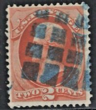 #178 Used Fancy Blue Grid of Square Dots Cancel (JH 5/1)