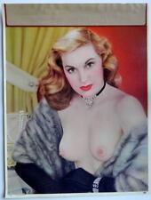 1955 VINTAGE SALESMAN SAMPLE CALENDAR PIN-UP GLAM MODEL PHOTO PRINT THE NECKLACE