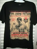 MANNY TEAM PACQUIAO THE LEGEND BOXING T-SHIRT SIZE M BLACK PHILLIPINES PACMAN