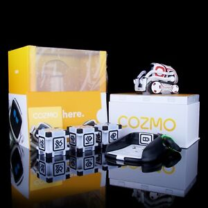 Anki Cozmo Robot Toy - White & Red - New Open Box - Charger - Cubes - Box