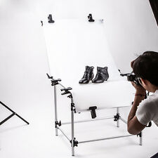 60x130cm Photo Studio Still Life Product Display Plexiglas Shooting Table Clamps