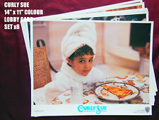 "RARE VINTAGE 14""x11"" US LOBBY CARD STILL SETx8 - BIG - CURLY SUE"