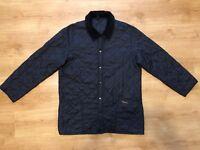 Barbour Men's Liddesdale Qualited Black Men's Button Jacket Size - Small (S)