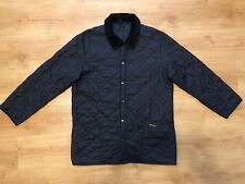 Barbour Men's Liddesdale Qualited Black Men's Button Jacket Size - Small (S)