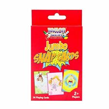 Jumbo Large Snap Playing Cards Kids Childrens Fun Game Learning Puzzle Education