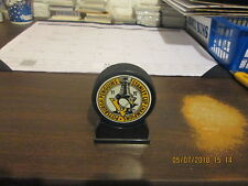NHL Pittsburgh Penguins Vintage 91 92 Stanley Cuip Champions Hockey Puck