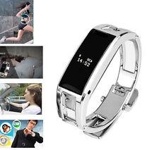 D8 Smart Bluetooth Tracker Sports Stainless Steel Men Women Bracelet Wrist Watch