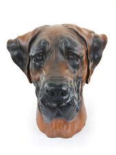 Deutsche Dogge (ungeschnitten, braun), großer Kopf Resin, Art Dog, CH