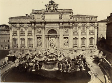 Italie, Roma, Fontana di Trevi Vintage Albumen Print, Italie Tirage albuminé