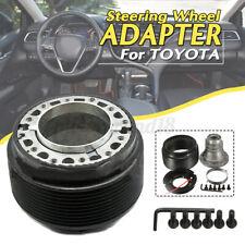 70mm Universal Racing Steering Wheel Hub Adapter Quick Release Black Fo