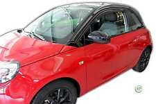VAUXHALL ADAM 3Door 2013-up SET OF FRONT WIND DEFLECTORS 2pc HEKO TINTED