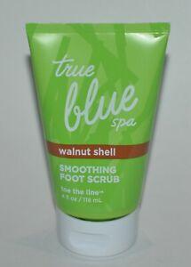 1 NEW BATH & BODY WORKS TRUE BLUE SPA WALNUT SHELL SMOOTHING FOOT SCRUB 4 OZ