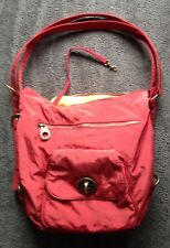 BAGGALLINI BRUSSELS 3-WAY BAG ~ Rusty Red w/ Orange Lining