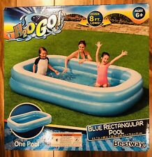 New listing Bestway H2O Go 54006E Blue Rectangular Pool Inflatable 8ft. 7in. x 69in. x 20in
